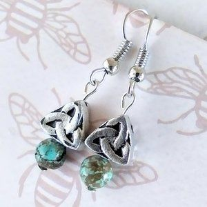Celtic Knots with Turquoise Earrings
